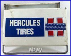 Vintage Hercules Tires Sign Original Store Display Tire Stand
