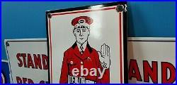 Vintage Hood Tires Porcelain Dealership Service Station Auto Attendant Sign