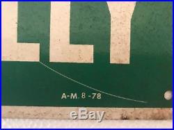 Vintage Kelly Springfield Tires Painted Metal Advertising Sign Gas Oil Soda