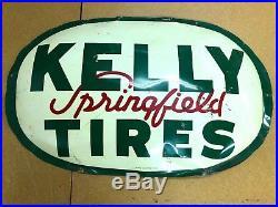 Vintage Kelly Tires Bubble Original Metal Steel Sign 1962 AM 4-62