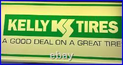 Vintage Kelly Tires Illuminated Sign/Clock, Automotive Garage Display