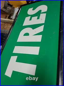 Vintage Kelly Tires Metal Sign 59.6x18 heavy made