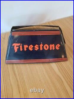 Vintage Lee Tires Display Advertising Rack stand sign gas station auto store