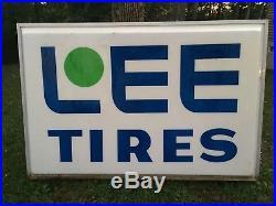 Vintage Lee Tires Lighted Sign Huge