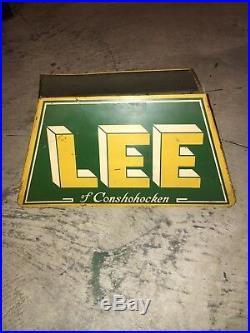 Vintage Lee Tires Tire Stand Display Sign
