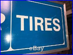 Vintage Lighted Goodyear Tires Sign