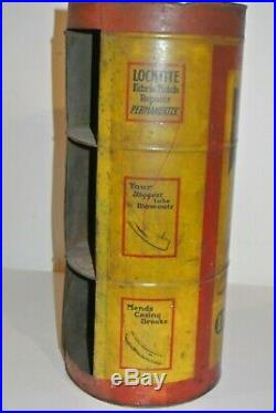 Vintage Locktite Tire Patch Kit Sales Display Dispenser Tin 1920's