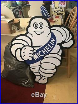 Vintage Look Michelin Man Tires Sign 42 Advertsing Sign