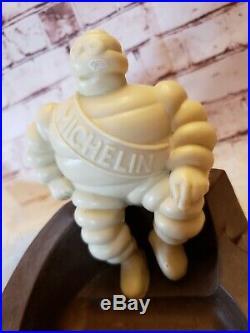 Vintage MICHELIN MAN Gas Station TIRES Bakelite Advertising Figural Ashtray