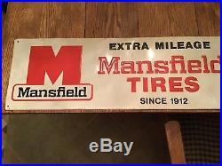Vintage Mansfield Tire 1976 Metal Sign
