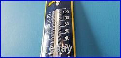 Vintage Michelin Porcelain Auto Gas Tires Bibendum Sign Service Thermometer