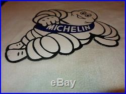 Vintage Michelin Tires Bibendum Man 23 Porcelain Metal Tire, Gasoline Oil Sign