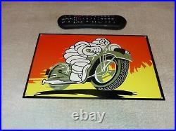 Vintage Michelin Tires Bibendum Tire Man+ Motorcycle 12 Metal Gasoline Oil Sign