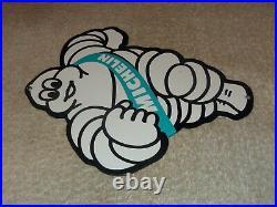 Vintage Michelin Tires Die-cut Bibendum Man 9 Porcelain Metal Gasoline Oil Sign