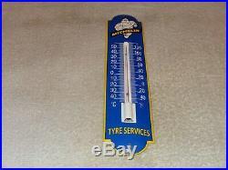 Vintage Michelin Tires Man 11 3/4 Porcelain Metal Gasoline Oil Thermometer Sign