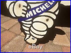 Vintage Michelin Tires Michelin Man Motor Oil Gasoline Porcelain Metal Sign Gas