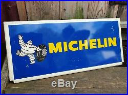 Vintage Michelin Tyre Sign Garage Advertising Automobilia Motoring Car Cycle