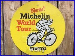 Vintage Michelin oil sign advertising garage mancave automobilia petrol tyre