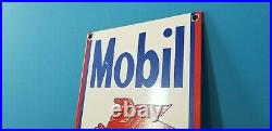 Vintage Mobil Mobilgas Tires Pegasus Porcelain Service Station Gasoline Oil Sign