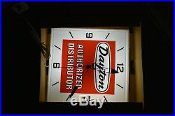 Vintage NOS Dayton Tires Authorized Distributor Essex Advertising Sign Clock