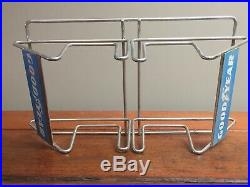 Vintage NOS GoodYear Two Tire Motorcycle Tire Metal Stand with Original Box 1970s