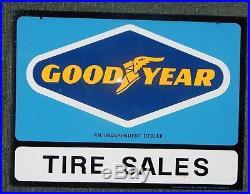 Vintage NOS Goodyear Tires Dealer Sign 1960's 24 x 18