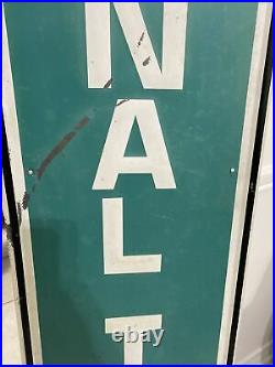 Vintage National Tires Vertical Gas Station Embossed Metal Advertising Sign
