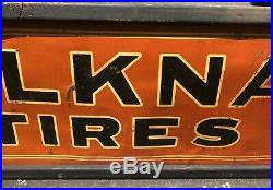 Vintage ORIGINAL BELKNAP HARDWARE, BLUEGRASS Tools, Metal, Tires, Auto Sign