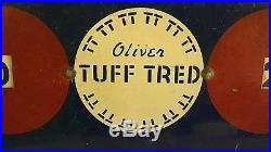 Vintage Oliver Tuff Tred Advertising Tire Sign Return From Lunch Oliver Tire