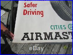 Vintage Original 1949 Cities Service Airmaster Tires Sign By Bob Fink 50 By 38
