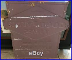 Vintage Original 1954 Goodyear Tire & Battery Porcelain Sign 30 x 30