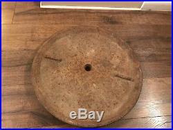 Vintage Original 21 FIRESTONE RUBBER TIRE Cast Iron Lollipop SIGN Base gas Oil