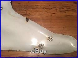 Vintage Original 46 Porcelain Good Year Foot Wing Sign