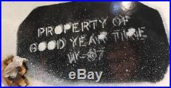 Vintage Original 64 Porcelain Good Year Foot Wing Sign