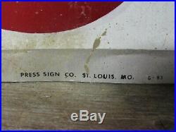 Vintage Original Aluminum Multi Mile Tires Advertising Sign