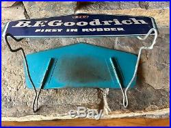 Vintage Original B. F. Goodrich First in Rubber Sign, Tire Display, Gas and Oil