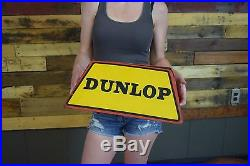 Vintage Original Dunlop Tires Tire Stand Sign Gas Oil Garage Display EARLY