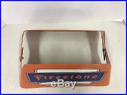 Vintage Original Firestone Tire Display Sign Gas Oil Advertising