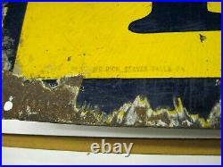 Vintage Original Fisk Tires Tubes Advertising Porcelain Sign 24 In. X 60 In