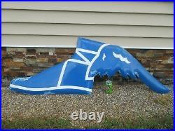 Vintage Original Goodyear Large Porcelain Flying Shoe Sign 22 x 63 RARE