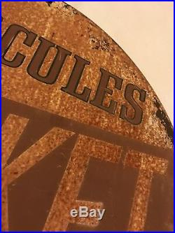 Vintage Original Hercules Tires Rocket Advertising 15 Sign Automotive Gas Oil