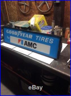 Vintage Original Lighted Goodyear Tires For AMC Sign
