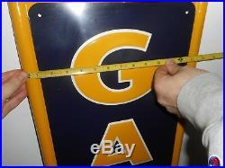 Vintage Original NOS GATES TIRES Gas Station Vertical Tin Advertising SIGN