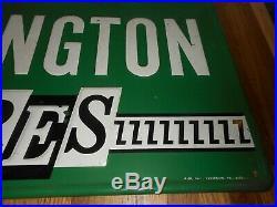 Vintage Original REMINGTON TIRES Tin Gas Oil Station Advertising SIGN