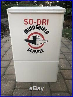 Vintage Original SO-DRI Service Station Windshield Gas Oil Tire Island Sign NOS