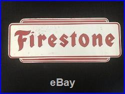 Vintage Original set of Metal Firestone Tire Rack signs. Mint Condition