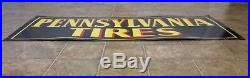 Vintage Pennsylvania Tires Car Truck Advertising Tin Sign