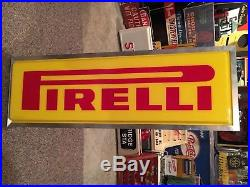 Vintage Pirelli Tire Light Up Sign