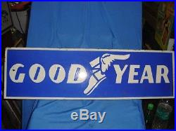Vintage Porcelain Enamel Good Year Tyre sign Board From India 1930'S Rare