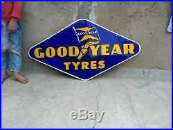Vintage Porcelain Enamel Original Good Year Tyres Tire Sign Board Rare